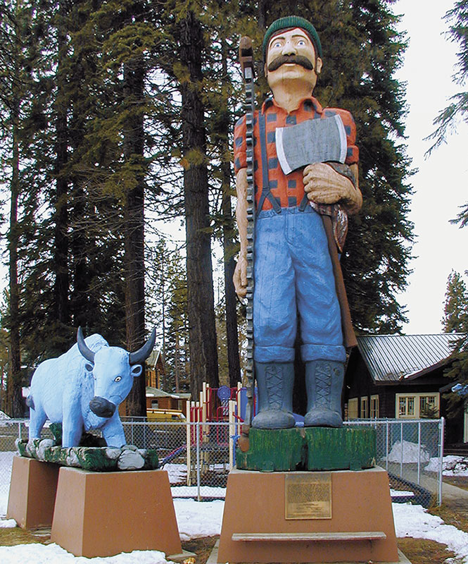 Paul Bunyan and Babe the Blue Ox - Lassen County Times